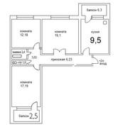 Трехкомнатную квартиру в Волотове